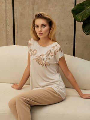 Фуфайка (футболка) жен Summer Boho пепельный