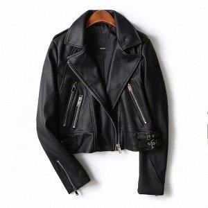 Куртка из эко. кожи черная