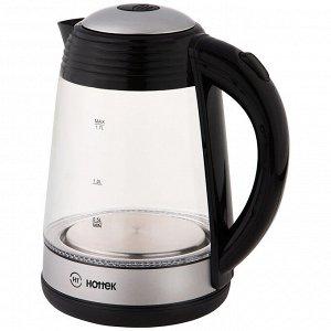 Чайник ЧАЙНИК HOTTEK HT-960-019  Материал: Стекло/Пластик Чайник HT-960-019 – незаменимая вещь на кухне! Стеклянный корпус имеет приятный внешний вид, также он позволяет контролировать уровень воды в