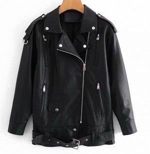 Куртка эко. кожа черный