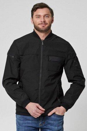 Мужская текстильная курткас отделкой трикотажем