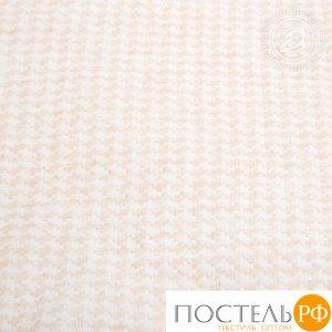 2280 Одеяло-покрывало трикотажное 100*140 Лапки бежевые