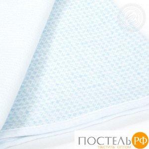 2280 Одеяло-покрывало трикотажное 100*140 Лапки голубые