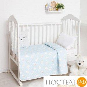 Одеяло стёганое Крошка Я «Мишка» 100х110 см, цвет голубой, 5054497