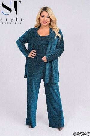 Костюм тройка 66917 (пиджак+майка+брюки)