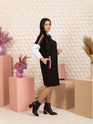 """791 Платье """"черный/белый"""""""