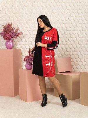 """791 Платье """"черный/красный"""""""