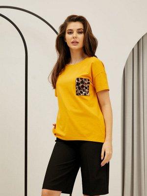 Фуфайка (футболка) жен  Summer Boho горчичный