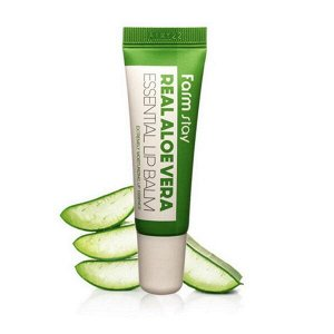 Бальзам для губ с алоэ FarmStay Real Aloe Vera Essential Lip Balm, 10ml