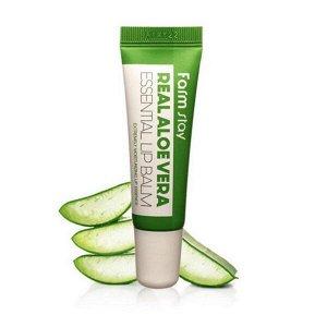 Бальзам для губ с алоэ FarmStay Real Aloe Vera Essential Lip Balm, 10ml