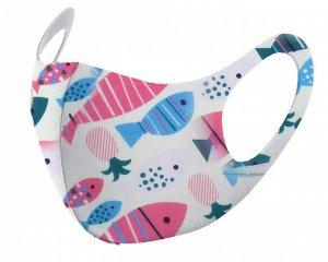 Детская защитная маска Рыбки