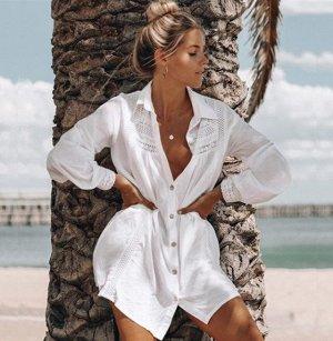 Женское платье, белое