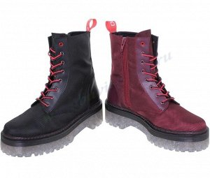 Exodo. Женские ботинки. Испания. Черный.Р.38 (арт.506EX), цвет: Бордовый