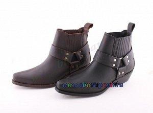4709 коричневый JOHNNY BULLS. Мужские ботинки Казаки. Натуральная кожа. Испания. Арт.4709