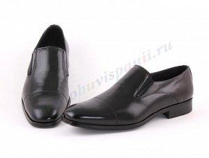9960 черный MARTTELY DESIGN.Мужские Туфли Слипоны. Натуральная кожа. Испания.(арт. 9960)