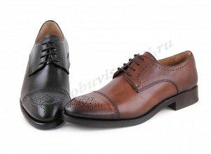 10428 коричневый Marttely Design. Мужские туфли Дерби. Натуральная кожа. Испания. (арт.10428)