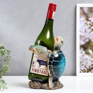 """Сувенир полистоун лак подставка под бутылку """"Морская черепаха"""" 19,5х12,5х12 см"""