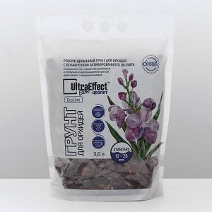 Грунт для орхидей UltraEffect Plus EcoLine c Цеолитом Standard 12-28mm, 3 л