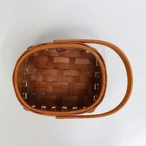 Корзина плетеная (секвойя), 17,5x15x11,5/23,5 см, 1 шт., коричневый