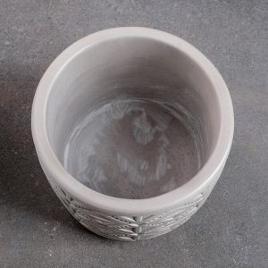 Кашпо Шале VipSet 1,25л серый