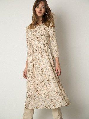 Платье А-силуэта с принтом PL1119/bader