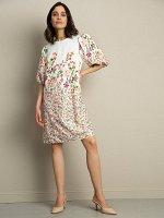 Платье А-силуэта с принтом PL1140/gurela