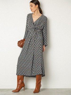 Платье приталенное с принтом PL1078/lanvin