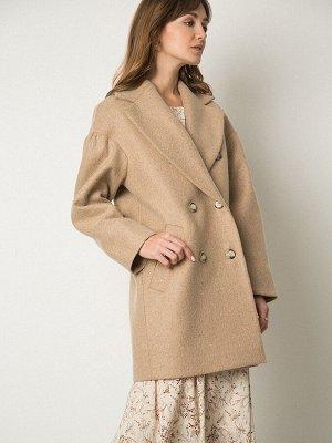 Шерстяное пальто с объемными рукавами R064/duanet