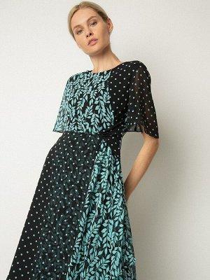 Шифоновое платье с принтом PL1091/verta