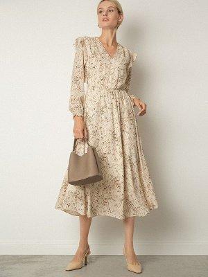 Шифоновое платье с принтом PL1117/bader