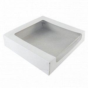 Коробка с окном 22*22*6 см, Белая