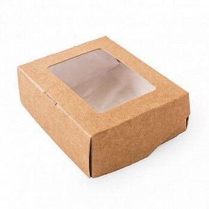 Коробка крафт с окном 10*8*3 см