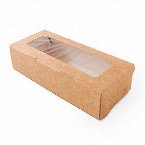 Коробка крафт с окном 17*7*4 см (tabox500), 100 шт.