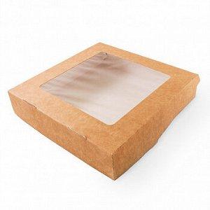 Коробка крафт с окном 20*20*4 см (tabox1500), 100 шт.