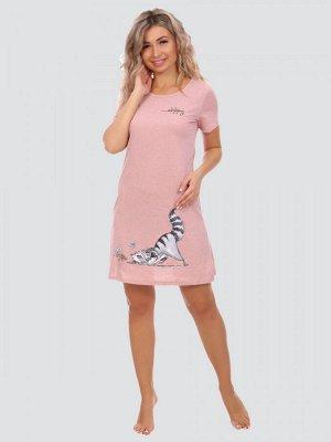 Туника Цвет: розовый; Состав: 80%хлопок, 20%п/э; Материал: Кулирка Удобная тунка, подойдет как для дома, так и для летних прогулок.