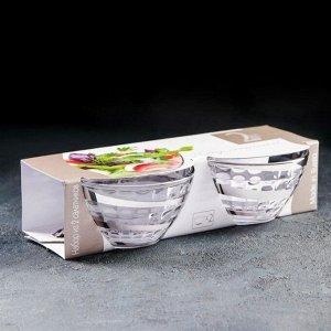 Набор салатников «Серпантин», 250 мл, 2 шт, серебро