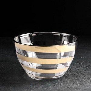 Салатник GiDGLASS «Серпантин», 1,75 л золото