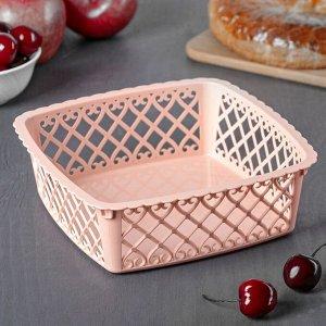 Ваза для хлеба и фруктов Amor квадратная, 20?6 см, цвет МИКС