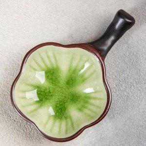 Соусник «Таллула», 11,5?7,5?3 см, цвет зелёный