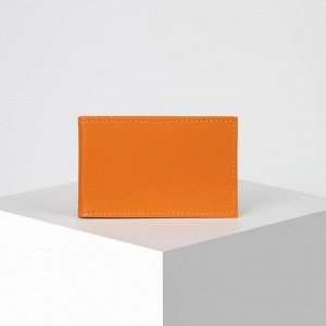 Визитница, 1 ряд, 18 листов, цвет оранжевый