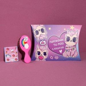 Подарочный набор «Детское счастье», 2 предмета: зеркало, массажная расчёска, цвет МИКС