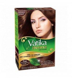 Краска для волос на основе натуральной хны DABUR VATIKA NATURALS (Коричневый) 6х10 г