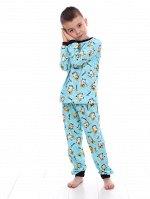 Пижама детская, голубой