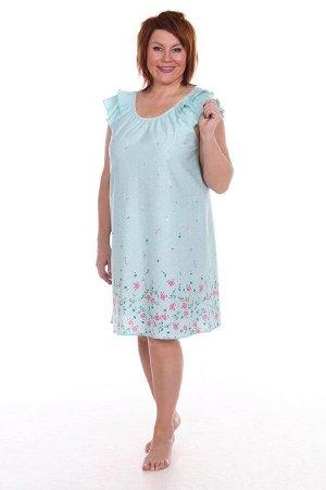 Сорочка женская, бирюзовый