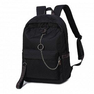 Рюкзак Молодёжный Цвет Чёрный (13х30х40 см)