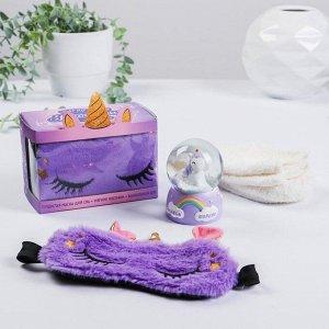 Набор «Радужные сны», снежный шар, носки one size, маска для сна