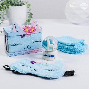 Набор «Ламантичное настроение», снежный шар, носки one size, маска для сна