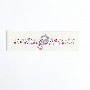 Детские татуировки-переводки, браслет: 20 см, набор 2 шт., «Для девочки, цветы»