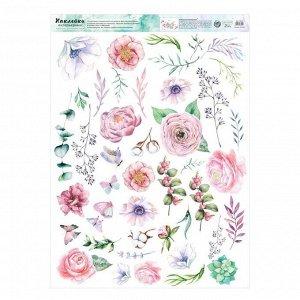 Наклейка виниловая «Цветы». интерьерная. 50 х 70 см