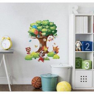 Наклейка виниловая «Дом на дереве». интерьерная. 50 х 70 см